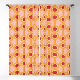 dumbbells yellow  #midcenturymodern Blackout Curtain