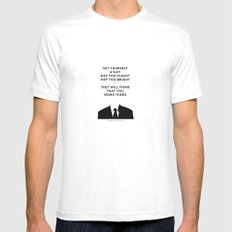 A Rough Guide (poem) White MEDIUM Mens Fitted Tee