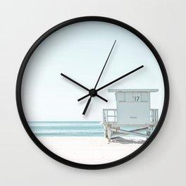 Lifeguard Beach Hut Wall Clock