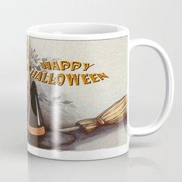 Owl and Cat Halloween Coffee Mug