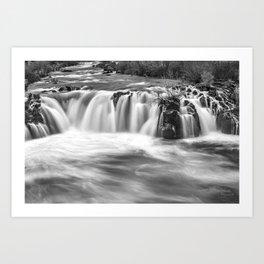 Steelhead Falls, Dream, Deschutes River, Black And White, Art Print