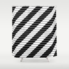 Simply Black And White (Abstract, geometric design) Shower Curtain