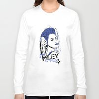 miley cyrus Long Sleeve T-shirts featuring Miley Cyrus by Becky Doyon