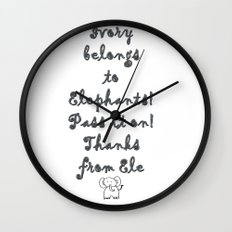 Ivory Belongs to Elephants Wall Clock