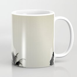 Tropical palm trees on yellow Coffee Mug
