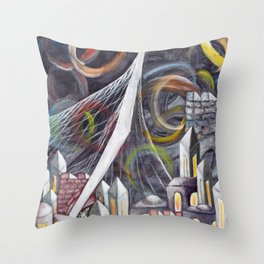 Bridging Heaven and Earth Throw Pillow