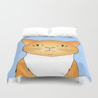 lucy Duvet Covers featuring Lucy by Caz Haggar