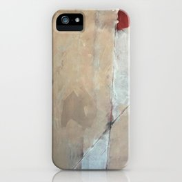 Cupid's Arrow: a minimal, abstract piece in pinks and white iPhone Case