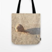 lee pace Tote Bags featuring Snail's Pace by Geni
