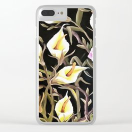 Arum Lily Artistic Floral Design Clear iPhone Case