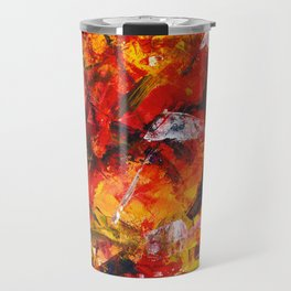 Abstract in warm colors Travel Mug