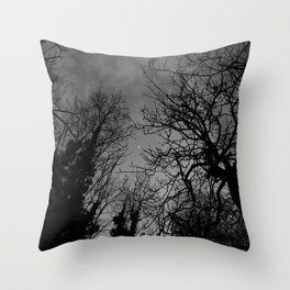 Good evening moon Throw Pillow