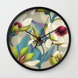 magnolia bloom - vivid version Wall Clock