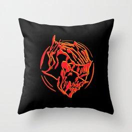 Ember Knight Throw Pillow
