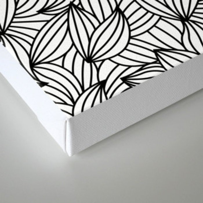 Abstract Lines Pattern Design 2 - Leaf Canvas Print