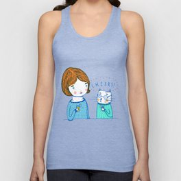 all i ever wanted was to drink ice tea with a cat  Unisex Tank Top