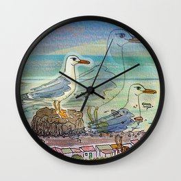 The Seagull and the Lighthouse Wall Clock