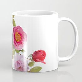 Rose flowers watercolor isolated on white background Coffee Mug