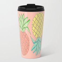 pineapple large coral Travel Mug