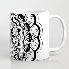 black&white mandala with flower Coffee Mug