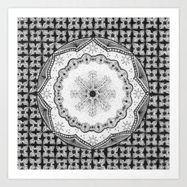 Zendala - Zentangle®-Inspired Art - ZIA 23 Art Print