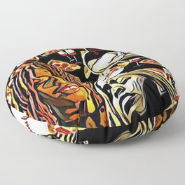Pizza and Wine Design Floor Pillow