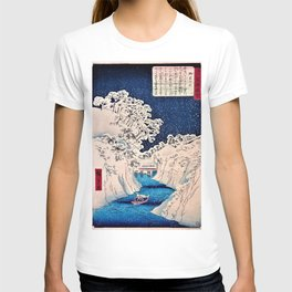 12,000pixel-500dpi - Utagawa Hiroshige - Famous Views of Edo - Ochanomizu T-shirt