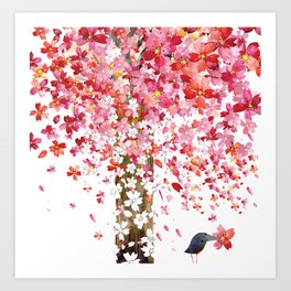 CHERRY WIND Art Print