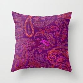 Pink Paisley Throw Pillow