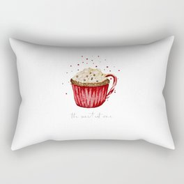 watercolor red velvet cocoa cup Rectangular Pillow