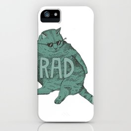 Rad Cat iPhone Case