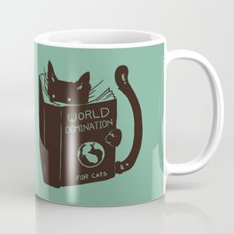 World Domination for Cats (Green) Coffee Mug
