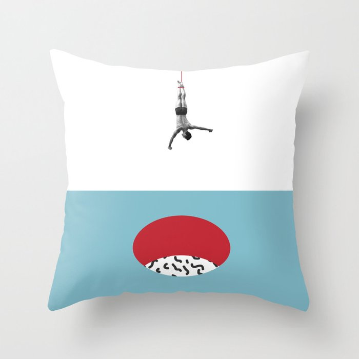 Minimalist. The Hole. Throw Pillow