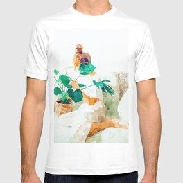 Me + Monstera #painting #minimal T-shirt