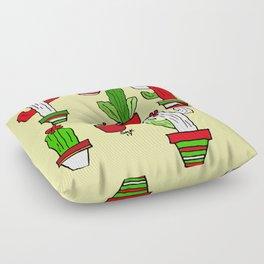 Christmas Cactus Floor Pillow
