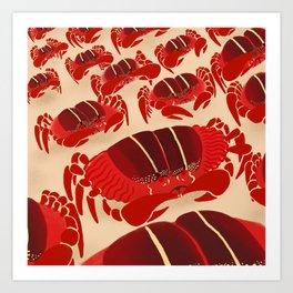 Christmas Island Crab Art Print