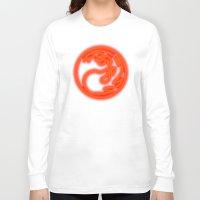 magic the gathering Long Sleeve T-shirts featuring Magic the Gathering, Neon Red Mana by Thorn Blackstar