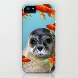 Goldfish with sea lion Baby iPhone Case