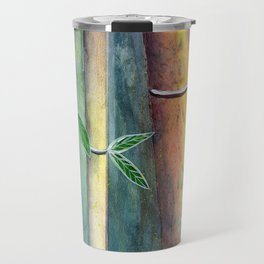 Magical Bamboo Forest Watercolor mixed media Travel Mug