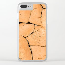 Cracked Terrain in Morocco Clear iPhone Case
