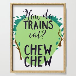 How Do Trains Eat? Chew Chew Serving Tray