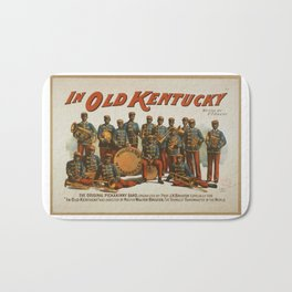 In Old Kentucky, vintage poster Bath Mat