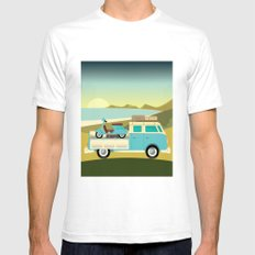 Vespavan Mens Fitted Tee White SMALL