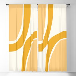 Abstract Shapes 69 in Mustard Yellow (Rainbow Abstraction) Blackout Curtain