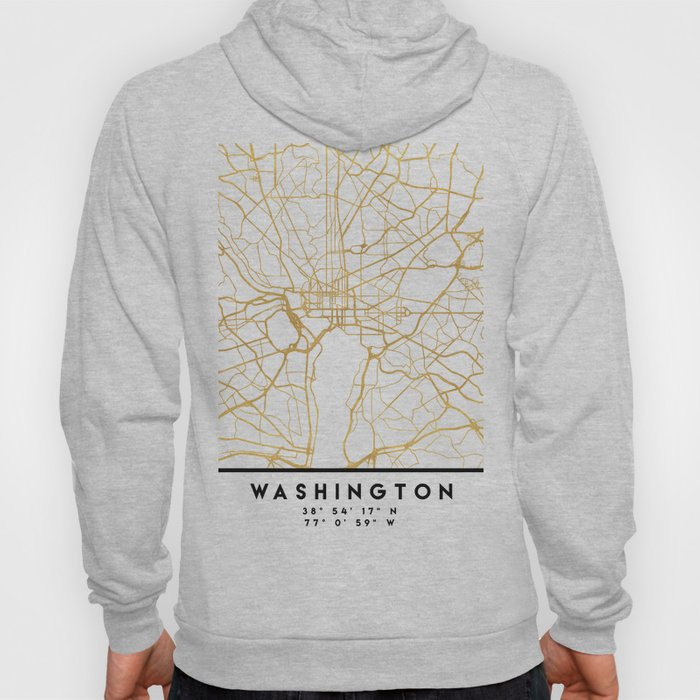 WASHINGTON D.C. DISTRICT OF COLUMBIA CITY STREET MAP ART Hoody