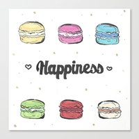 macaroons Canvas Prints featuring Macaroons by AshleyRose
