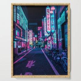 A Neon Wonderland called Tokyo Serving Tray