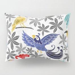 Rainforest Birds in Watercolor Pillow Sham