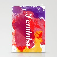 feminism Stationery Cards featuring Feminism Watercolor by Pia Spieler
