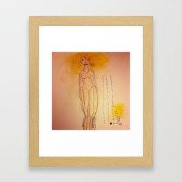 Lucille, The First Human Angel Framed Art Print